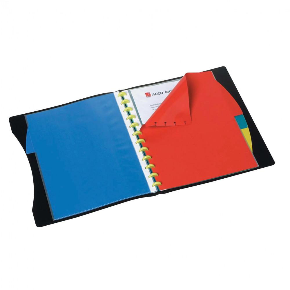 MARBIG KWIK ZIP DISPLAY BOOK A4 W/Dividers 20Pkt Black
