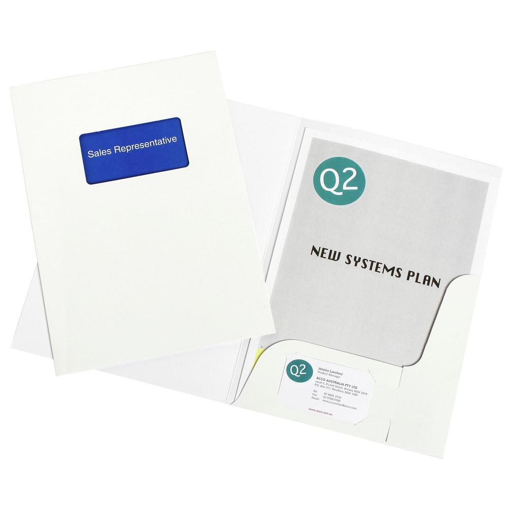 MARBIG PRESENTATION FOLDERS Pro Series A4 Window Gloss