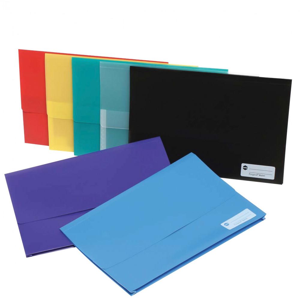 MARBIG POLYPICK WALLETS PP Foolscap Yellow
