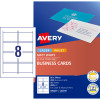 AVERY C32015-25 BUSINESS CARDS I/Jet Dbl Sided 8/Sht Matt Wht