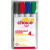 Office Choice Whiteboard Markers Bullet 2mm Assorted Pack Of 4