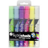 Texta Liquid Chalk Markers Wet Wipe Bullet 4.5mm Assorted Wallet Of 6