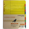 BIBBULMUN MANILLA DIVIDER A4 10 Tab Yellow