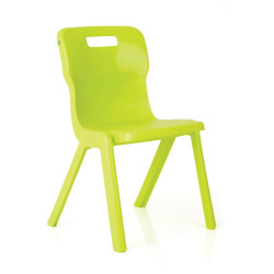 Titan Stackable Student Chair 380mm High Suits Age 7-9 Lime Shell
