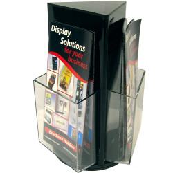 Deflect-O Brochure Holder DL Counter Top Rotating Black