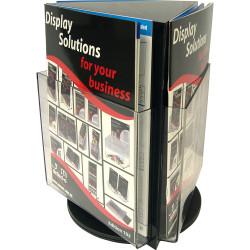 Deflect-O Brochure Holder A4 Counter Top Rotating Black
