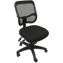 EM300 Small Seat Office Chair Black Mesh Medium Back Black Fabric Seat Black Mesh