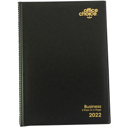 OFFICE CHOICE BUSINESS DIARY A4 2 Days to a Page 1 Hr 1Hr appoint 7am - 7pm
