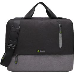 Moki 15.6 Inch Odyssey Satchel Bag Black & Grey