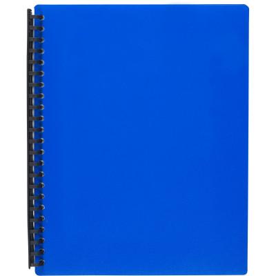 Marbig Display Book A4 Refillable 40 Pocket Blue