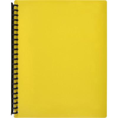 Marbig Display Book A4 Refillable 40 Pocket Yellow