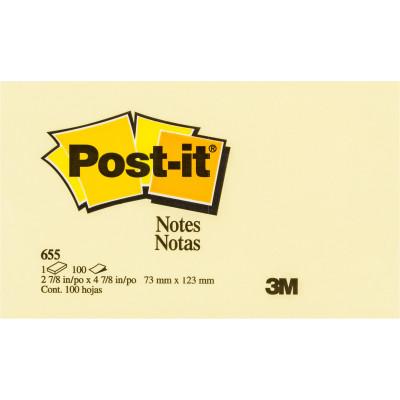 Post-It 655 Notes Original 76x127mm Yellow Pad 100 Sheets