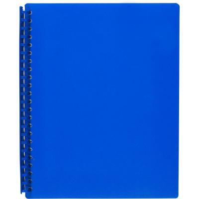 Marbig Display Book A4 Refillable 20 Pocket Blue