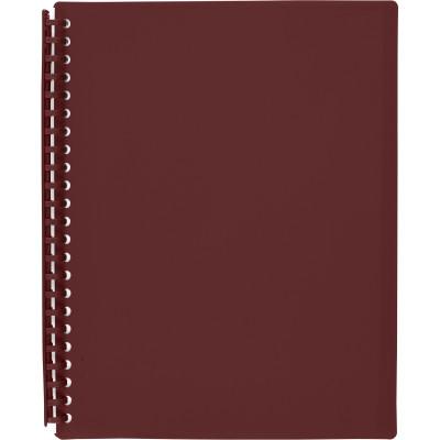 Marbig Display Book A4 Refillable 20 Pocket Maroon