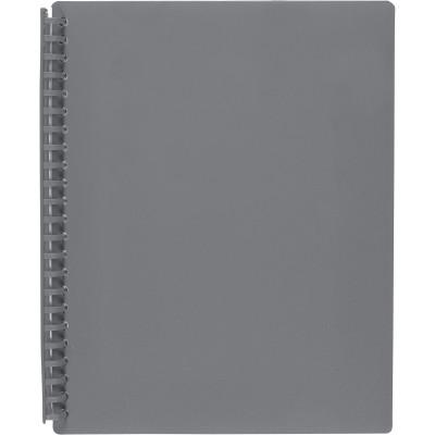 Marbig Display Book A4 Refillable 20 Pocket Grey