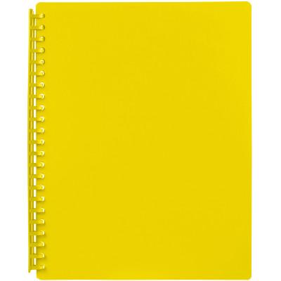 Marbig Display Book A4 Refillable 20 Pocket Yellow