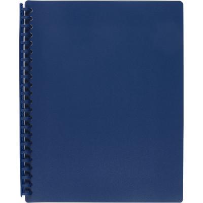 Marbig Display Book A4 Refillable 20 Pocket Dark Blue