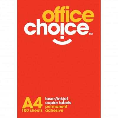 Office Choice Laser Copier & Inkjet Labels 2UP 199.6x143mm